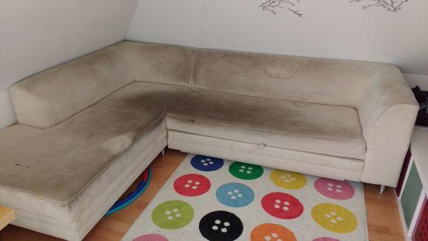 Wohnzimmer Auszieh Couch Polster Sessel