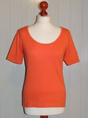 Kurzarm-Pullover von Heine in orange