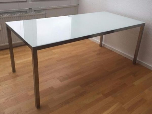 esstisch glasplatte gebraucht kaufen nur 4 st bis 70 g nstiger. Black Bedroom Furniture Sets. Home Design Ideas