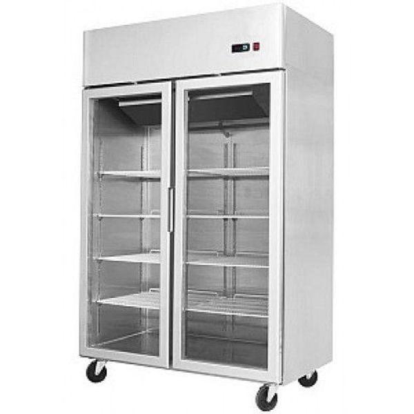 Kühlschrank NEU, Gewerbekühlschrank 900 Liter , 2 Glastüren- NEUWARE ...