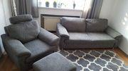 Moderne Couch mit Sessel und