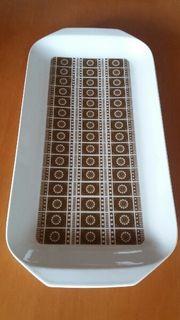 Kuchen Stollen Platte 70iger Jahre