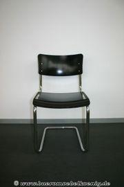 Stuhl Freischwinger in schwarz von