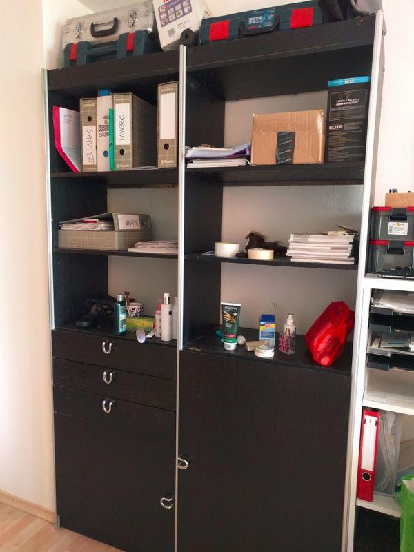 Büroschrank schwarz, zu verschenken!!! in München - Büromöbel kaufen ...