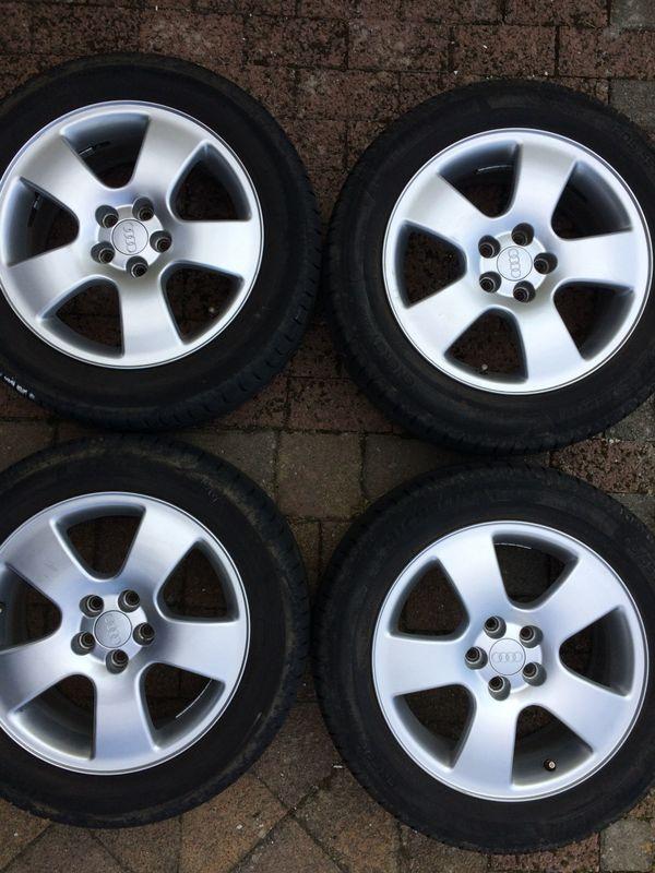 Gebraucht, Original Audi Alufelgen mit Bereifung gebraucht kaufen  67827 Becherbach