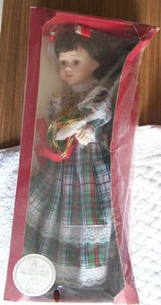 Meredith Collectible Porcelain Doll - Signed