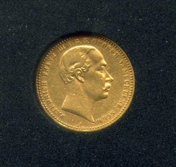 10 Mark Gold Friedrich Franz Iii Mecklenburg Schwerin 1890 A J232