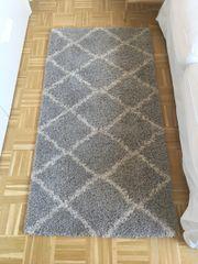 Hochflor Teppich grau