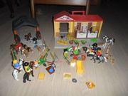 Playmobil 4897 Mitnehmbauernhof Pferdestall mit
