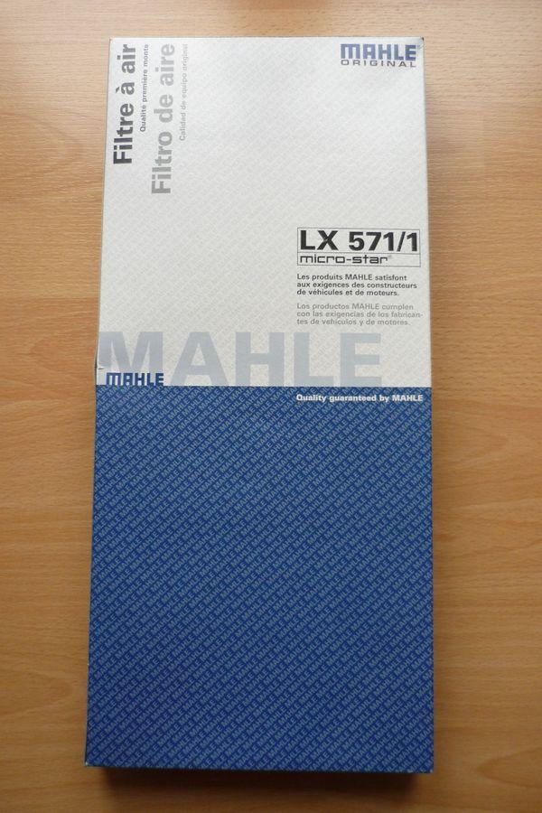 "MAHLE ""Luftfilter LX 571/1"" (SEAT; SKODA; VW GROUP) - Bremen Borgfeld - MAHLE ""Luftfilter LX 571/1"" (SEAT; SKODA; VW GROUP); unbenutzt; 10,00 Euro - Bremen Borgfeld"