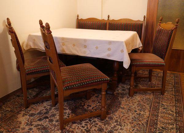 Altdeutsche Sitzgruppe Tisch Sitzbank 3 Stuhle In Stutensee