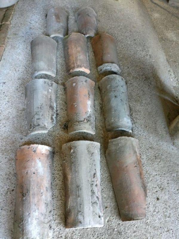 Dachziegel, Ziegel, Firstziegel, » Fliesen, Keramik, Ziegel