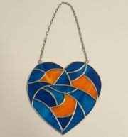 Tiffany Fensterdeko Herz
