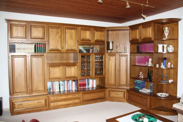 Wohnzimmer  Schrankwand In Eiche Rustikal