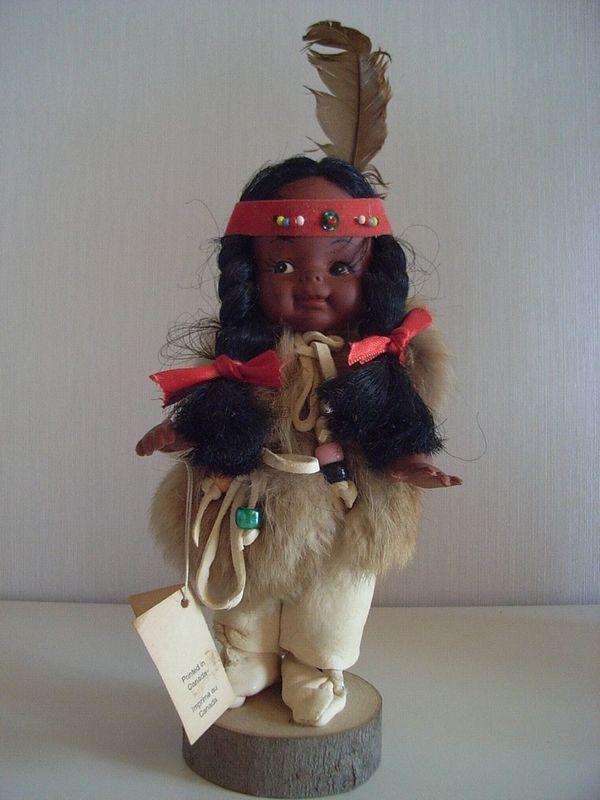 Sammlerpuppe Sammler Puppe \'Canadian Indian\' mit Zertifikat von EFC ...